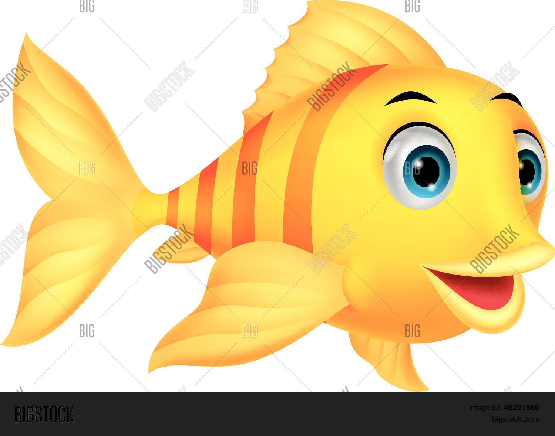 Vector y foto Dibujos Animados De Pescado Bonito  Bigstock