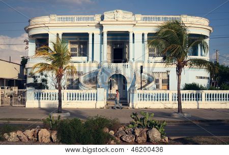 Beautiful Blue House In Cienfuegos, Cuba