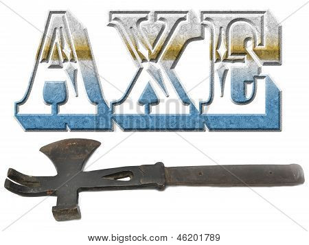 Word of axe with real axe