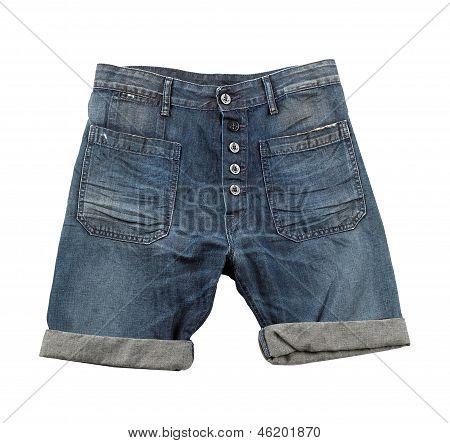 Denim Shorts With Hem