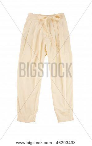Beige Baggy Pants
