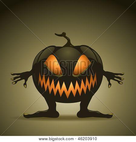 Halloween Background With Pumpkins. Eps10