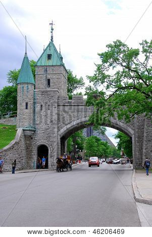Porte Dauphine Gate part of Old Quebec