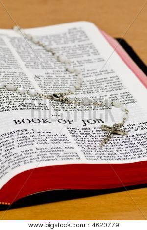 Rosary Bible Page - Job