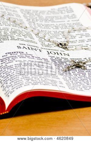 Rosary Bible Page - Saint John