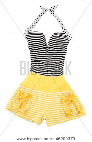 Sweetheart Halter Cute Striped Fashion Look