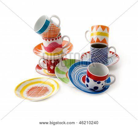 Artistic Print Cups Still Life