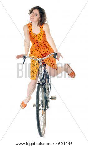 Frau Fahrradfahren