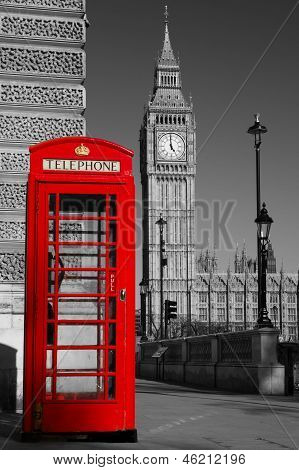 BW Westminster phone box