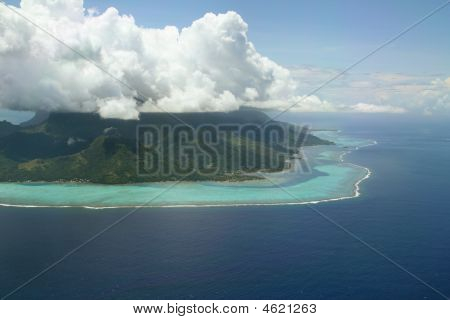 Cloud Cap On Volcanic Island