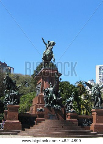 General Jose de San Martin monument at  the Plaza San Martin in Buenos Aires