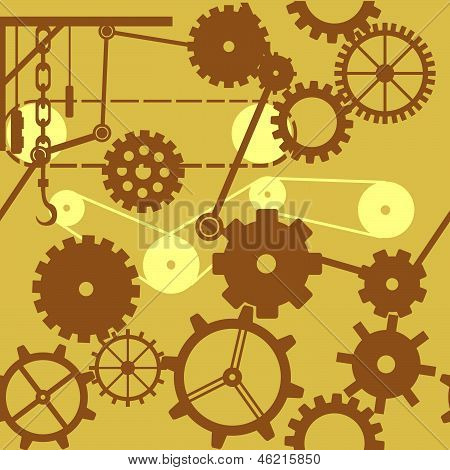 Gears, Cogs and Wheels_Seamless Tile