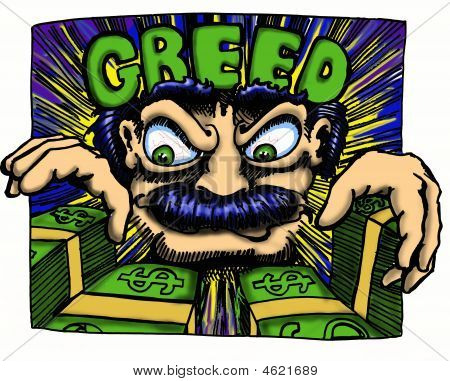 Greedy Man Graphic