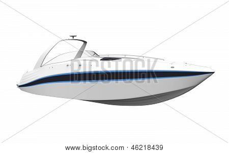 White Speedboat
