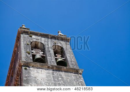 Belltower Of Church Of Santa Maria In Lourinha