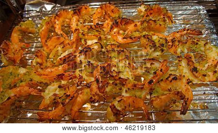 Broiled Shrimp With Garlic