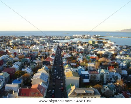 Downtown Reykjavik, Iceland, View From Hallgrimskirkja Church