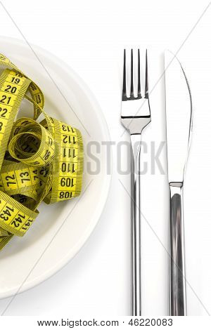 Diet and nutrition with dishware