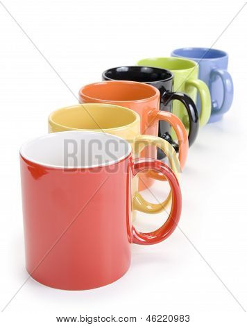 Group of colorful cups