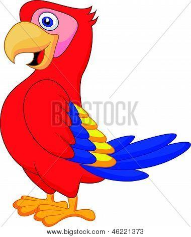 Desenho de pássaro papagaio bonito
