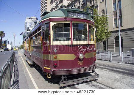 A Melbourne, Australia Vintage City Circle Tram