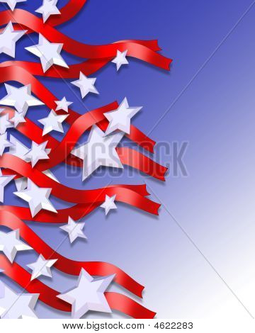 Stars And Stripes Patriotic Abstract Background