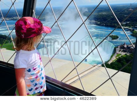 Tourist View Of Niagara Falls