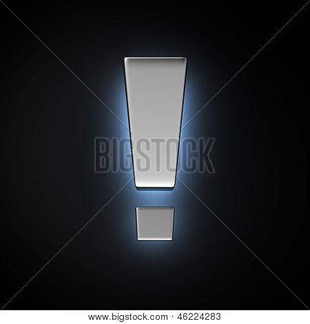 Luminous Exclamation Mark