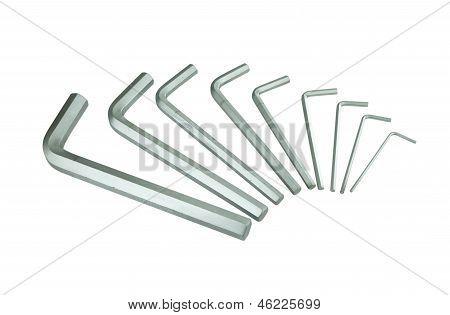 Hexagon Kit Tool Or Allen Wrench Set