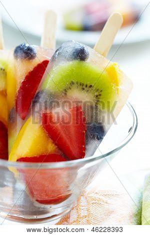 Fruity popsicle sticks