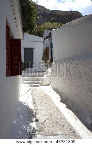 Narow Street In Greece