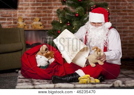 Santa Claus Checks His List