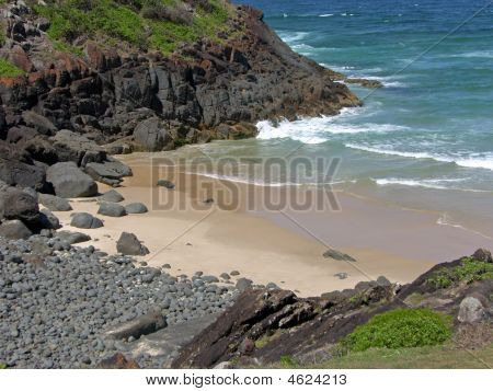 Small Secluded Rocky Beach