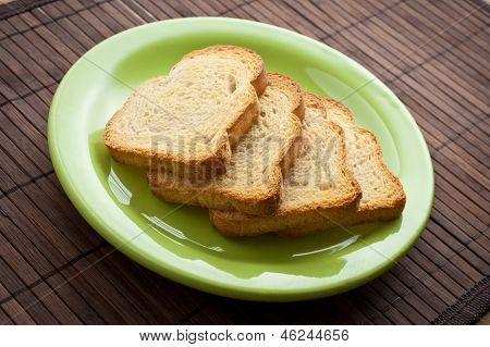 Pile Of Toasts.