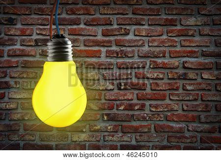 Yellow Light Bulb.