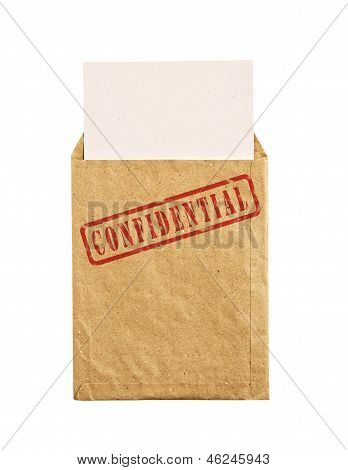 Old Envelope With Top Secret Stamp.