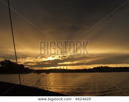Golden Rays At Dusk