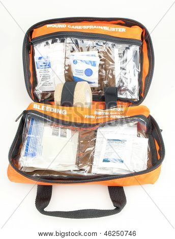 First Aid Outdoors Kit Pack Opened