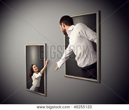 concept photo of happy couple