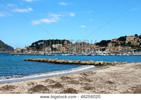 Soller Port Of Mallorca With Boats In Balearic Island