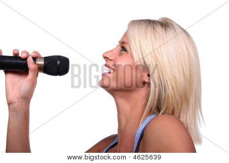 Smiling Blonde Singer