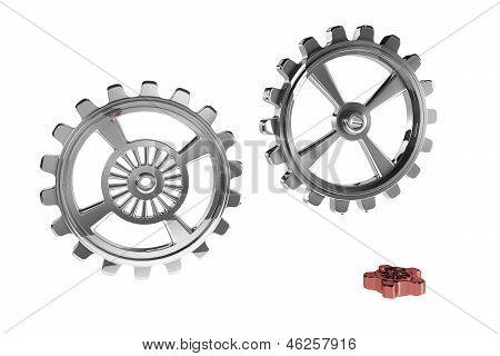 Cogwheels - Red Piece