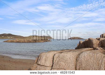 Old Natural Rock Formation On A Beach