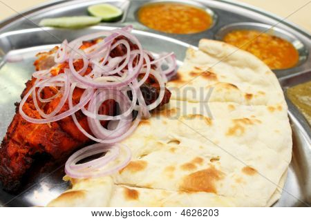 Tandoori Chicken And Naan Bread