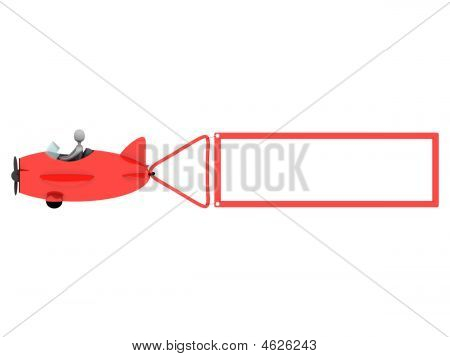 Plane With Blank Label
