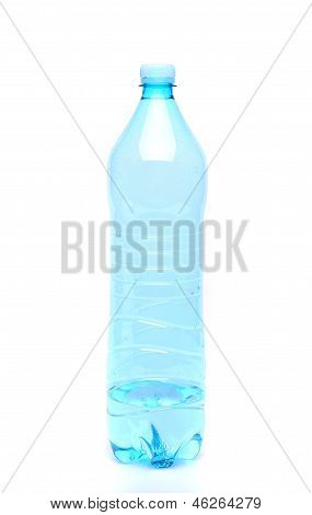 Plastic Bottle Of Drinking Water On White Background