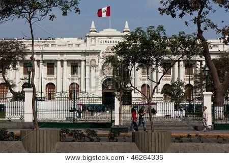 Congress Building In Lima, Peru