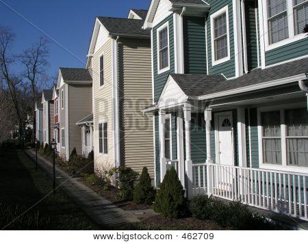 Zeile der Eigentumswohnungen