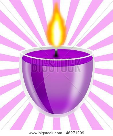 Conflagrant Decorative Candle