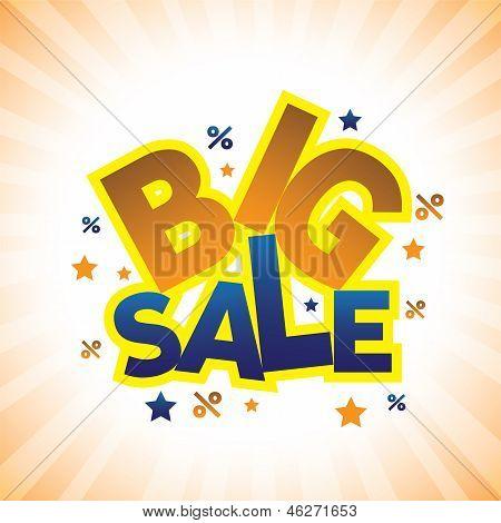 Concepto Vector Graphic - Banner anunciando la gran venta precios con descuento